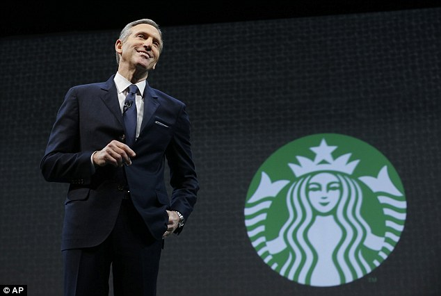Good news, bad news: The tech snafu comes just one day after the Seattle-based global coffeehouse chain, led by CEO Howard Schultz (pictured), posted record quarterly earnings with net revenues of $4.6billion