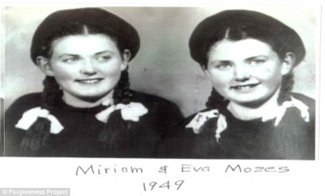 Recovery: Miriam and Eva Kor as shown in a 1949 photo. Eva Kor and her twin sister Miriam were among the 1,500 twins (amounting to 3,000 children) Dr. Josef Mengele experimented on in Auschwitz