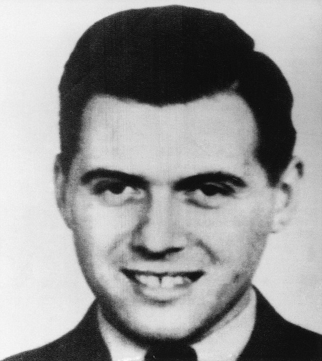 Josef Mengele (1911-1979), the notorious Nazi German physician, in an image taken from from Nazi Hunter: The Wiesenthal File, by Alan Levy