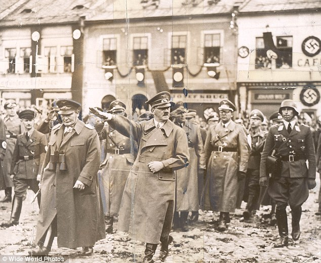 Field Marshall Hermann Goering appears with Adolf Hitler shortly after the Second World War began