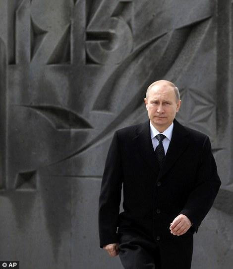 Vladimir Putin at the Armenian Genocide memorial complex today