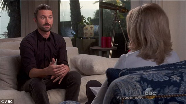 Supportive: The 33-year-old was the only one who gave a one-on-one with Diane Sawyer during the two-hour programme