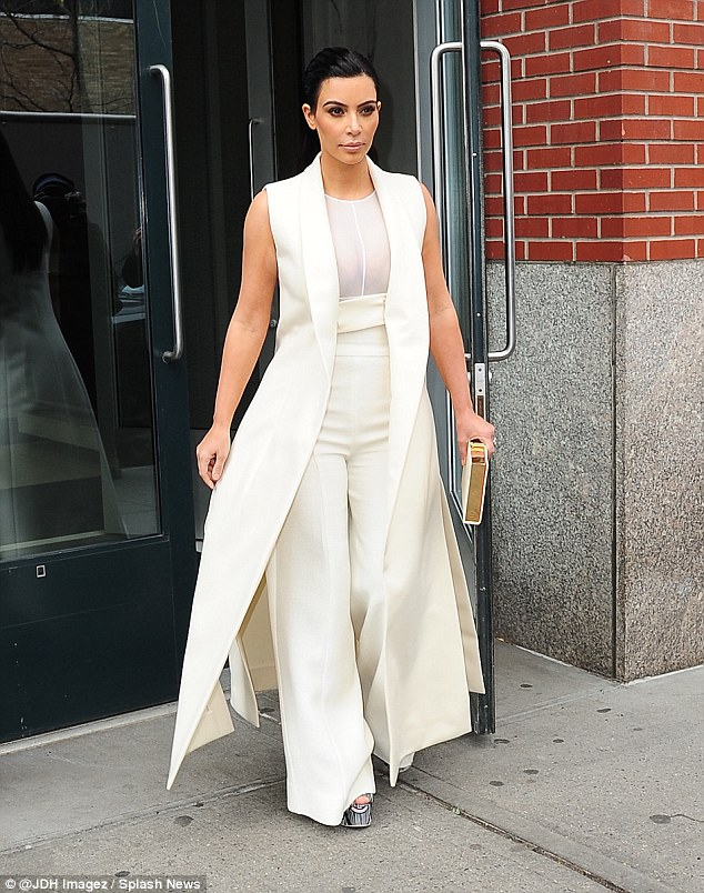 Leading the charge: Kim Kardashian, who's in New York City, told reporters at an event on Fthat the whole family is supportive of Bruce's new life