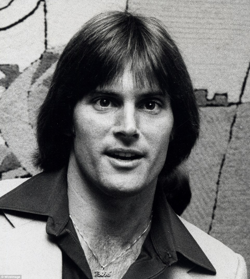 Swingin' 70s hunk: As an athlete who gained national recognition in the 1970s, Bruce, shown here in 1978, once oozed masculine sex appeal