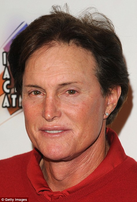 In hair and makeup: From 2012 (pictured) to 2013, Bruce grew his hair longer and began being pictured with suspiciously glossy lips