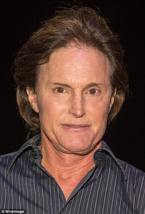 In hair and makeup: From 2012 to 2013 (pictured), Bruce grew his hair longer and began being pictured with suspiciously glossy lips