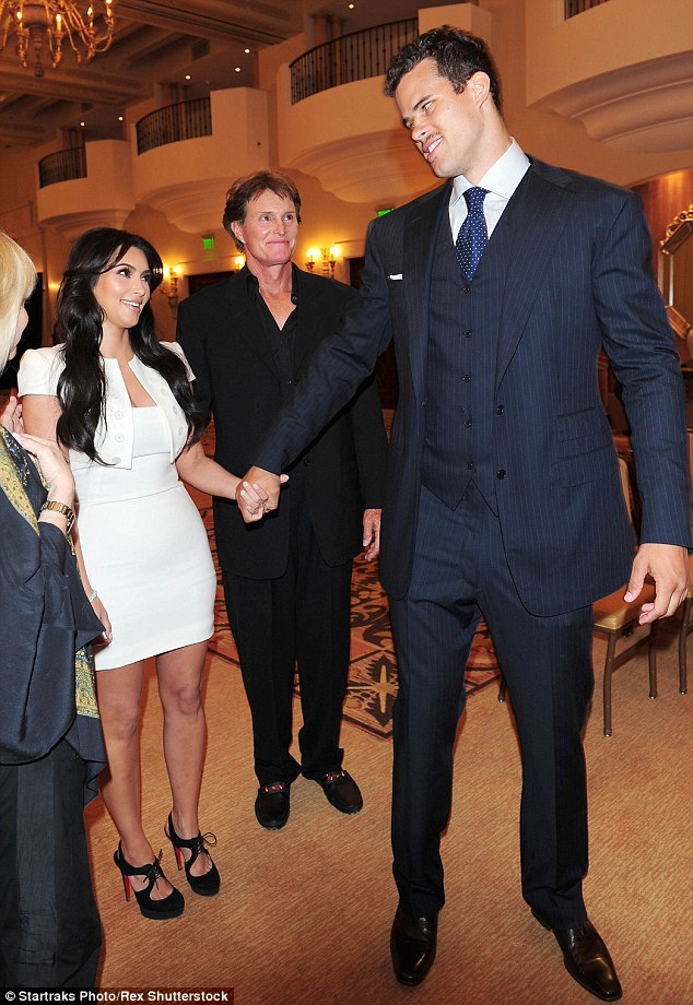 Kirstie wasn't the only one: Washington Wizards center Kris Humphries (R) - who was married to Bruce's stepdaughter Kim Kardashian (L) for 72 days in 2011 - had to get something off his chest (pictured in 2011)