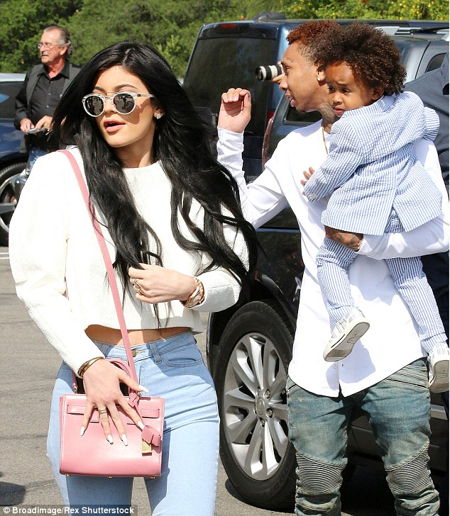 Taking Chyna's spot? The little sister of Kim Kardashian - who is Blac's ex-BFF - was most recently seen attending an Easter church service with both Tyga and his son King