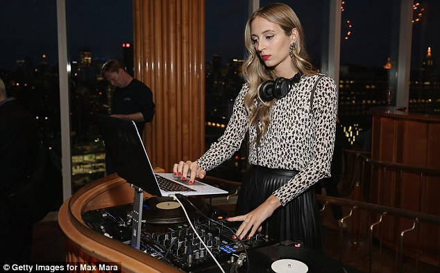 In the mix: DJHarley Viera-Newton provided the musical entertainment for the night