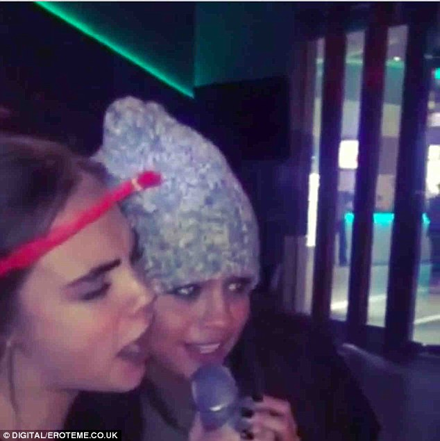 Happy birthday to you! The Keeping Up with the Kardashian starlet also received a karaoke serenade from supermodel Cara Delevingne and pop starlet Selena Gomez