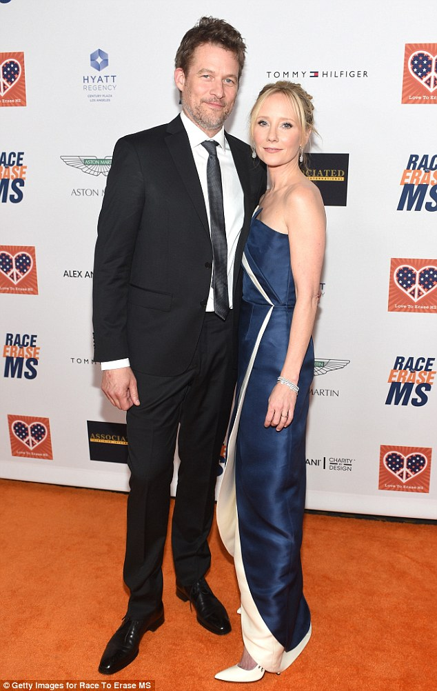 Lovebirds: Anne Heche, right, and her longtime partner James Tupper, left, were also in attendance