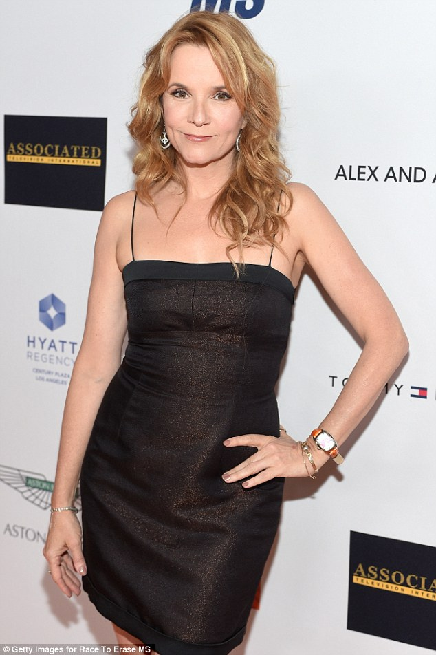LBD: Lea Thompson rocked a sparkling little black dress