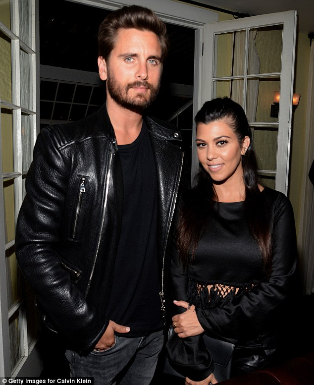 Hired a babysitter: Scott and Kourtney took time off from their parenting duties and went on together to the late night Calvin Klein party at Chateau Marmont