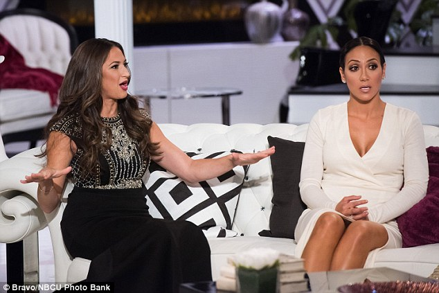 New addition: The 37-year-old (pictured with Melissa Gorga) joined the Real Housewives Of New Jersey this season and has candidly spoken about her previous diagnosis and treatment