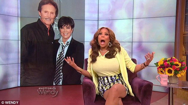 Furious: Wendy Williams said during her Thursday show that she was not happy Bruce Jenner was doing his Diane Sawyer interview and went so far as to call him a 'fame wh**e'