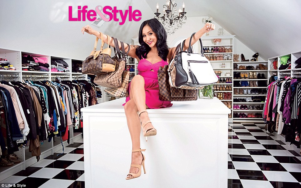 Impressive:On Friday Nicole 'Snooki' Polizzi gave Life & Style a peek inside the stuffed closet of her new $2.6m mansion in, where else, New Jersey, and there is not a Target item in sight (though she does admits there are some items from Forever 21)