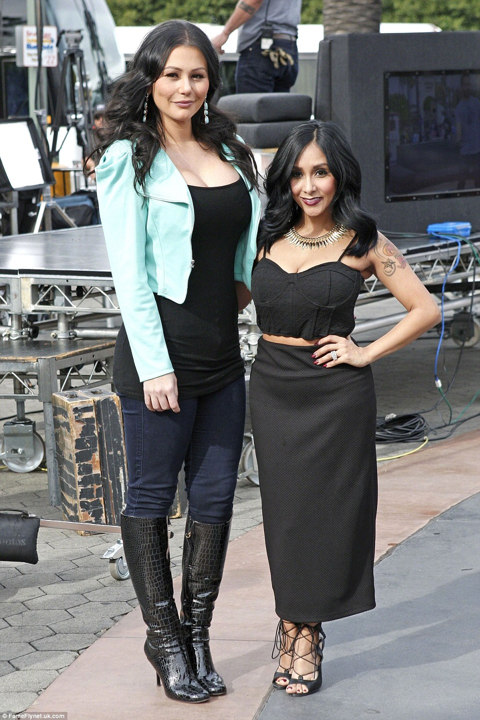 Her bestie: The 27-year-old reality diva with Jenni Farley in January at Universal Studios