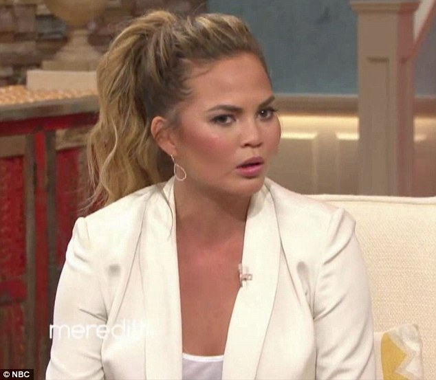 Her advice: Chrissy begged the audience not to compare themselves to celebrities' photos, noting: 'I've seen these women in person, they are not like that'