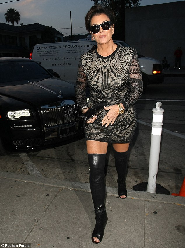Keeping to herself: Bruce's ex Kris Jenner kept mum on the former athlete's upcoming tell-all when she stopped by Craig's in West Hollywood on Thursday evening