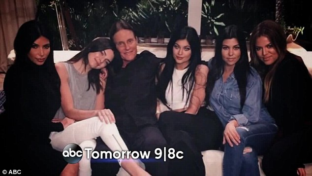 We are family: (L-R) Kim Kardashian, Kendall and Kylie Jenner and Kourtney and Khloe Kardashian are also set to make an appearance during the broadcast