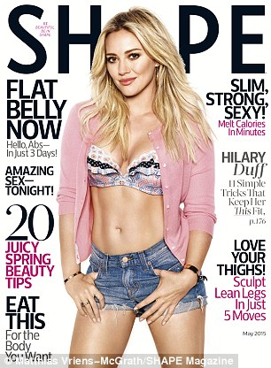 Out now: Hilary's interview appears in the May issue of Shape