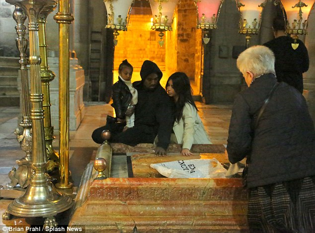Early morning visit: The following day, at 5am, the family visited the Church of the Holy Sepulchre