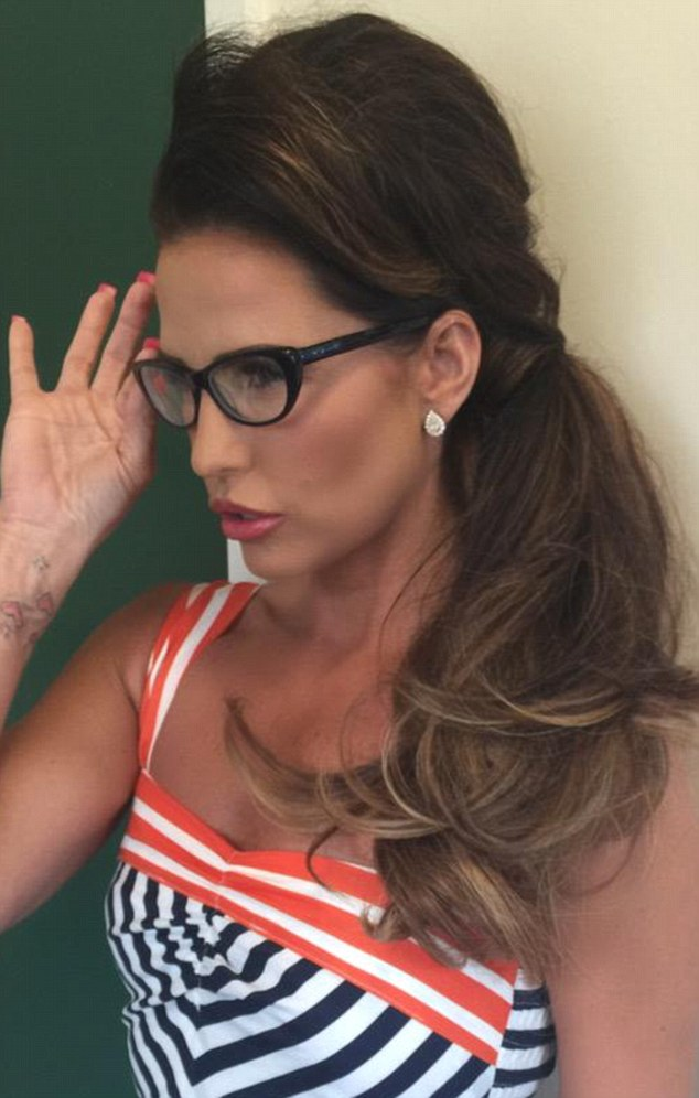 A new look! Katie Price has reduced her size 32FF breasts to a 32B and on Friday showed off a new sophisticated look to go with it on Twitter