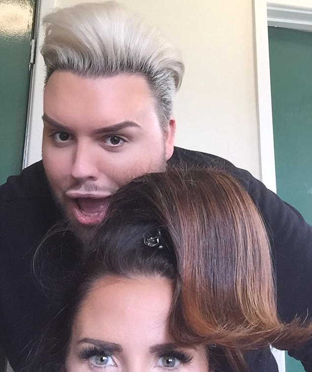 What a quiff! Katie shared a picture of herself getting her mega bouffant done