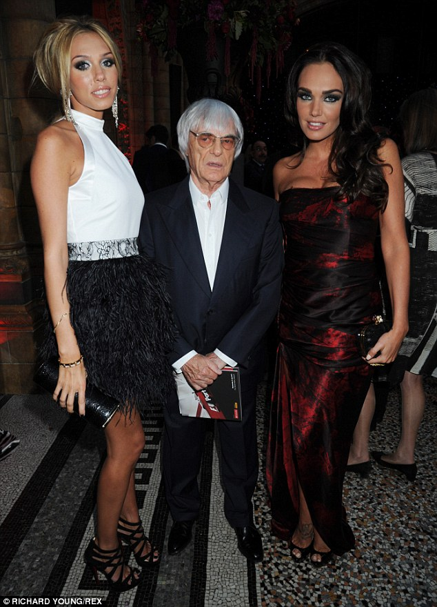 Daddy's girls: Petra, father Bernie & Tamara  attend Formula One party in aid of Great Ormond Street Hospital