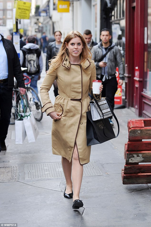 Thought you were unemployed? Princess Beatrice was spotted in Mayfair on a shopping trip and carrying a bag from Karl Lagerfeld's London store