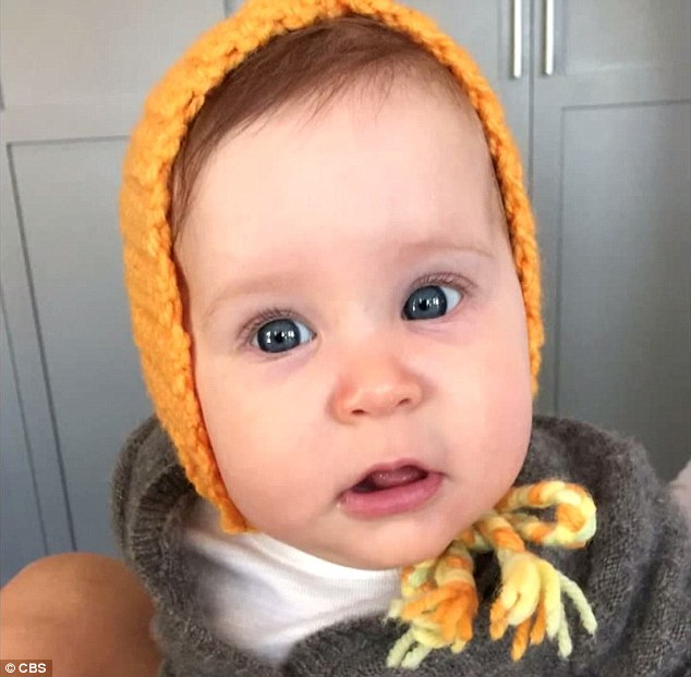First picture: The 50-year-old star shared a snap of his five-month-old daughter Avri, which is the first time fans have had a chance to lay eyes on her