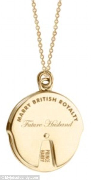 Here's hoping: Jewelry brand Jet Set Candy's Marry British Royalty Spinner Charm comes in 14K gold vermeil (pictured) and sterling silver and retails for $198 and $148, respectively
