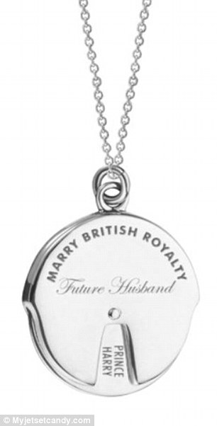 Here's hoping: Jewelry brand Jet Set Candy's Marry British Royalty Spinner Charm comes in 14K gold vermeil and sterling silver (pictured) and retails for $198 and $148, respectively