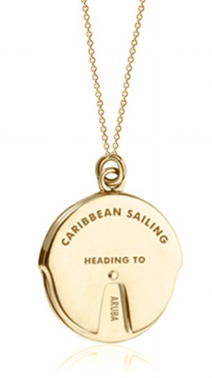 Same concept: The Caribbean Sailing Spinner (pictured) and theNYC Planner Spinner are variations of the unique charm. Both pieces come in14K gold vermeil and sterling silver