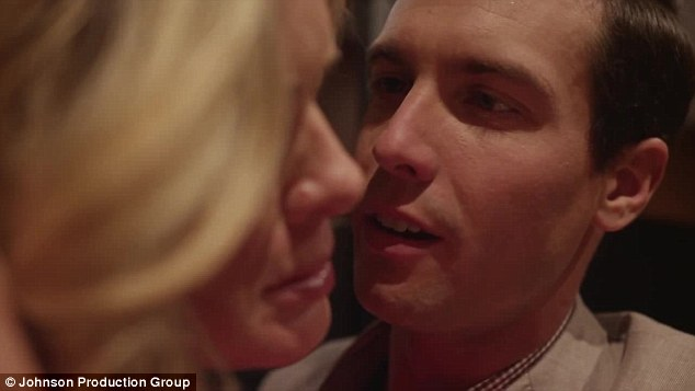 Shooting him down: She tells Grayson she loves her husband Peter as she attempts to end the affair, but her statement infuriates the weird teacher even more and he screams at her, saying, 'No, you're my wife Rose'