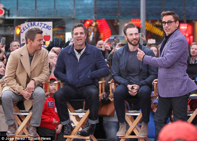 Close bond: The foursome had a great time together as they answered questions from fans outside the studio