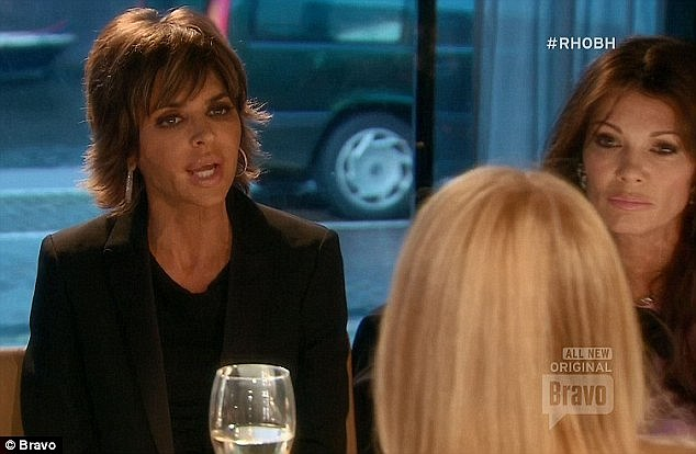 On fire: Lisa and Kim's feud came to a head on a now infamous RHOBH episode that aired in early March where Rinna threw a wine glass during an outrageous argument