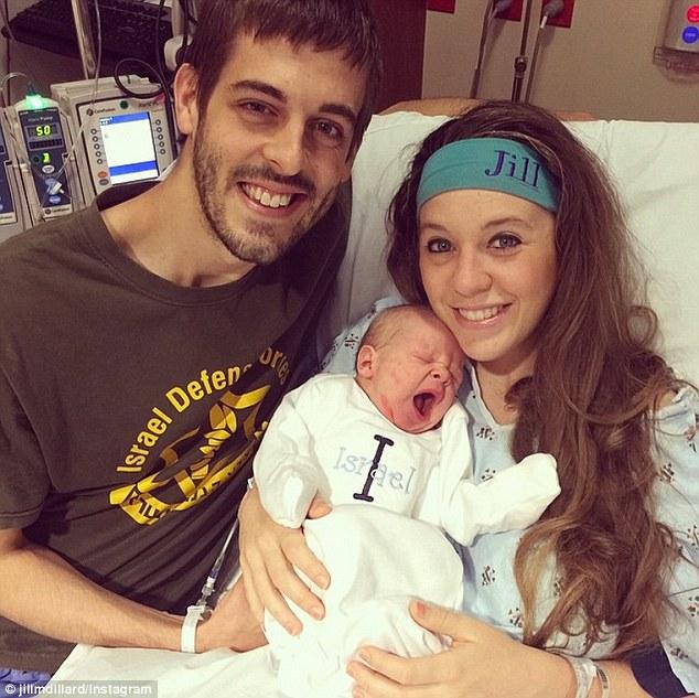 New parents: Jill, 23 and Derick husband Derick Dillard, 26, welcomed their firstborn on April 6
