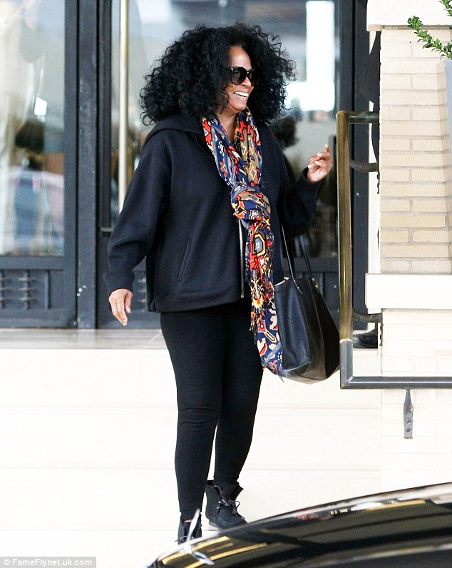 She's going to be a grandma: Evan's mom Diana Ross was seen shopping at Barneys New York in Beverly Hills on Thursday
