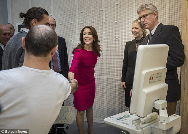 Informative: She met with researchers and inspected their technology
