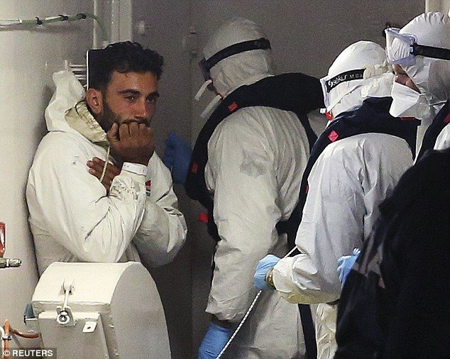 'Killer': Malek was arrested when he stepped onto Sicilian soil after his overcrowded boat capsized in the Mediterranean. He has been charged with multiple manslaughter