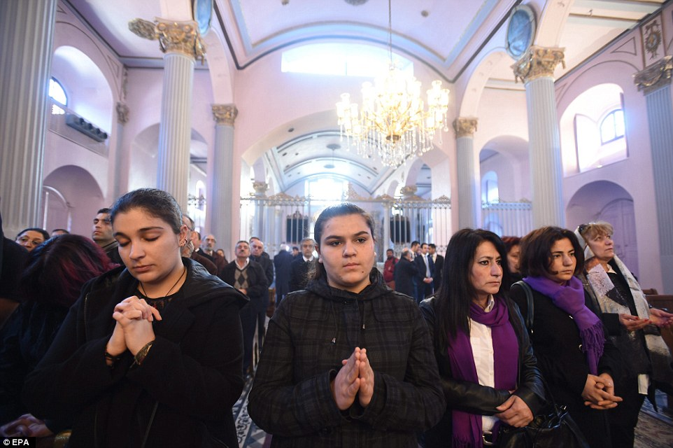 A mass in memory of those  killed  in Istanbul, Turkey. The Turkish President Tayyip Erdogan said on Friday he 'shared the pain' of Armenians, but as recently as Thursday he again refuted the description of the killings as genocide and has shown no sign of changing his mind