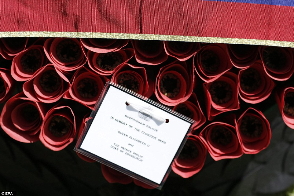 'In memory of the glorious dead': A wreath from Queen Elizabeth II is laid at the Cape Helles English Memorial in Gallipoli