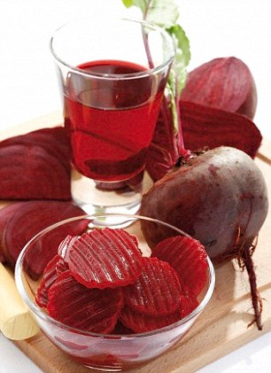 Beetroot can help with blood flow and muscle contraction