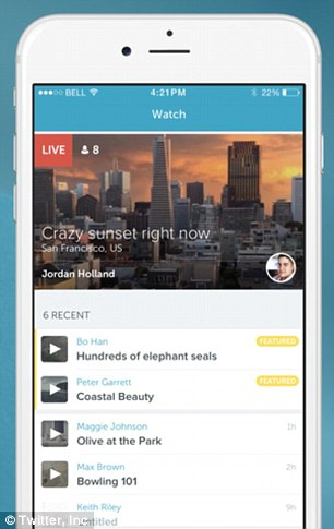 Streaming revolution: Periscope, an iPhone app that allows users to broadcast live video and audio to the Internet, launched last Thursday