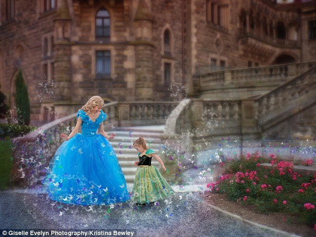 She's a princess!: Florida mom Kristina Bewley started taking her daughter Giselle to Disney World in September 2014 and they've been visiting the park monthly ever since