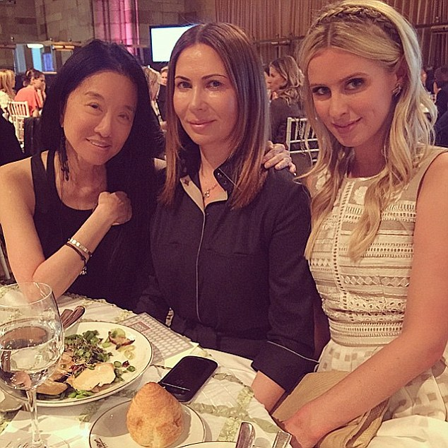 Ladies that lunch: The businesswoman posted a picture of her with some gal pals at the lunch on Instagram