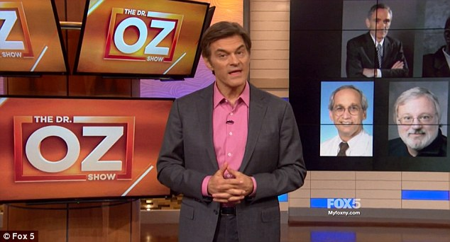 The celebrity doctor used Thursday's episode of The Dr. Oz Show to hit back and claim that the criticism he's received is part of a conspiracy because of his outspoken views on genetically modified food