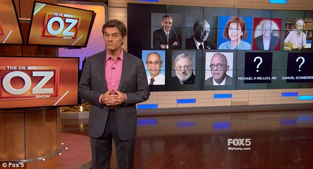 Thursday's Dr. Oz Show featured a report revealing how some of the 10 doctors 'have big ties to big industry'