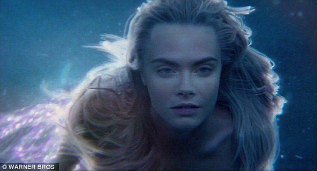 Swishing her fins! The gorgeous millennial will next be seen as a purple-tailed mermaid in Joe Wright's Pan, which hits US/UK theatres on July 17 in IMAX 3D